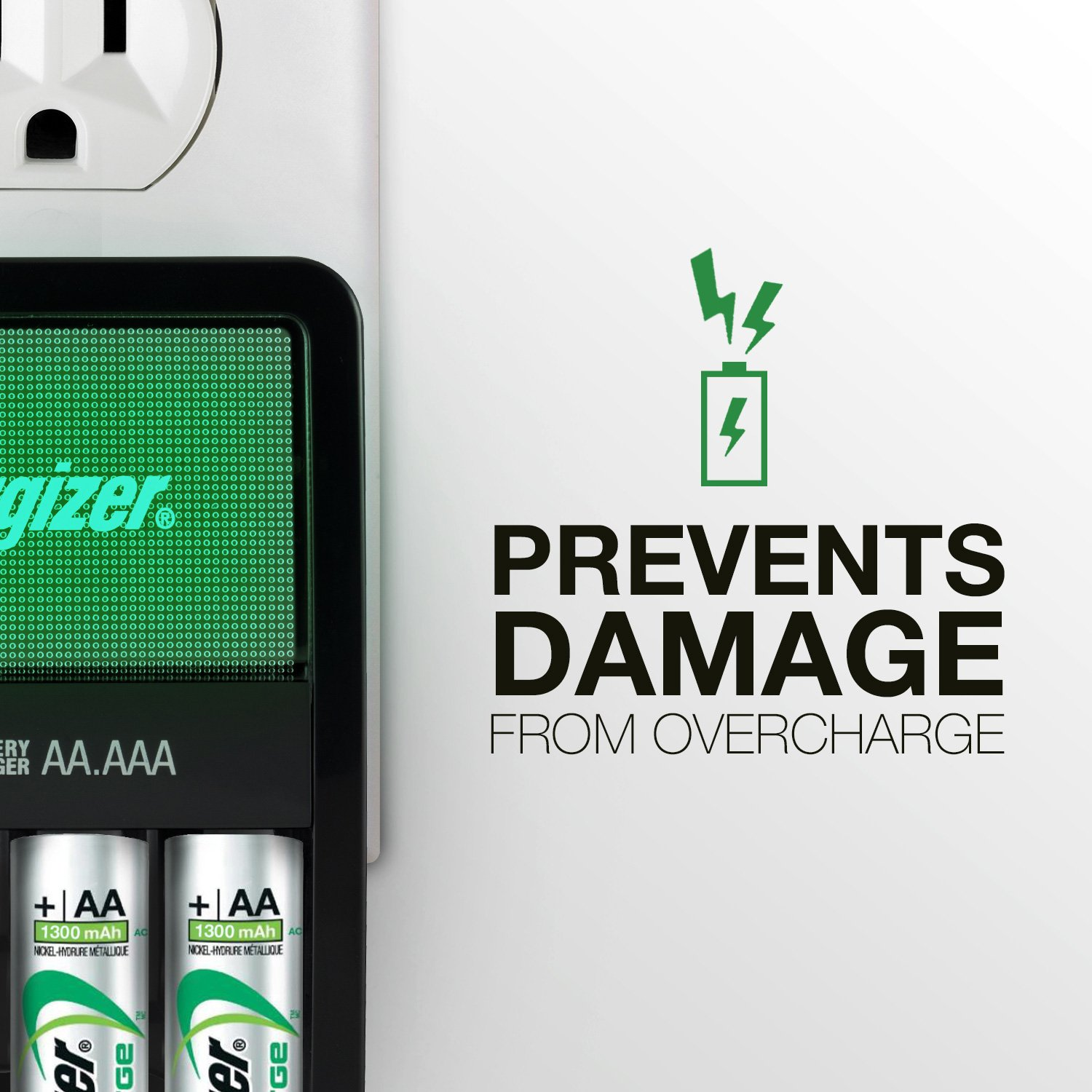 Energizer AA/AAA Battery Charger with 4 AA Batteries Accessories ...