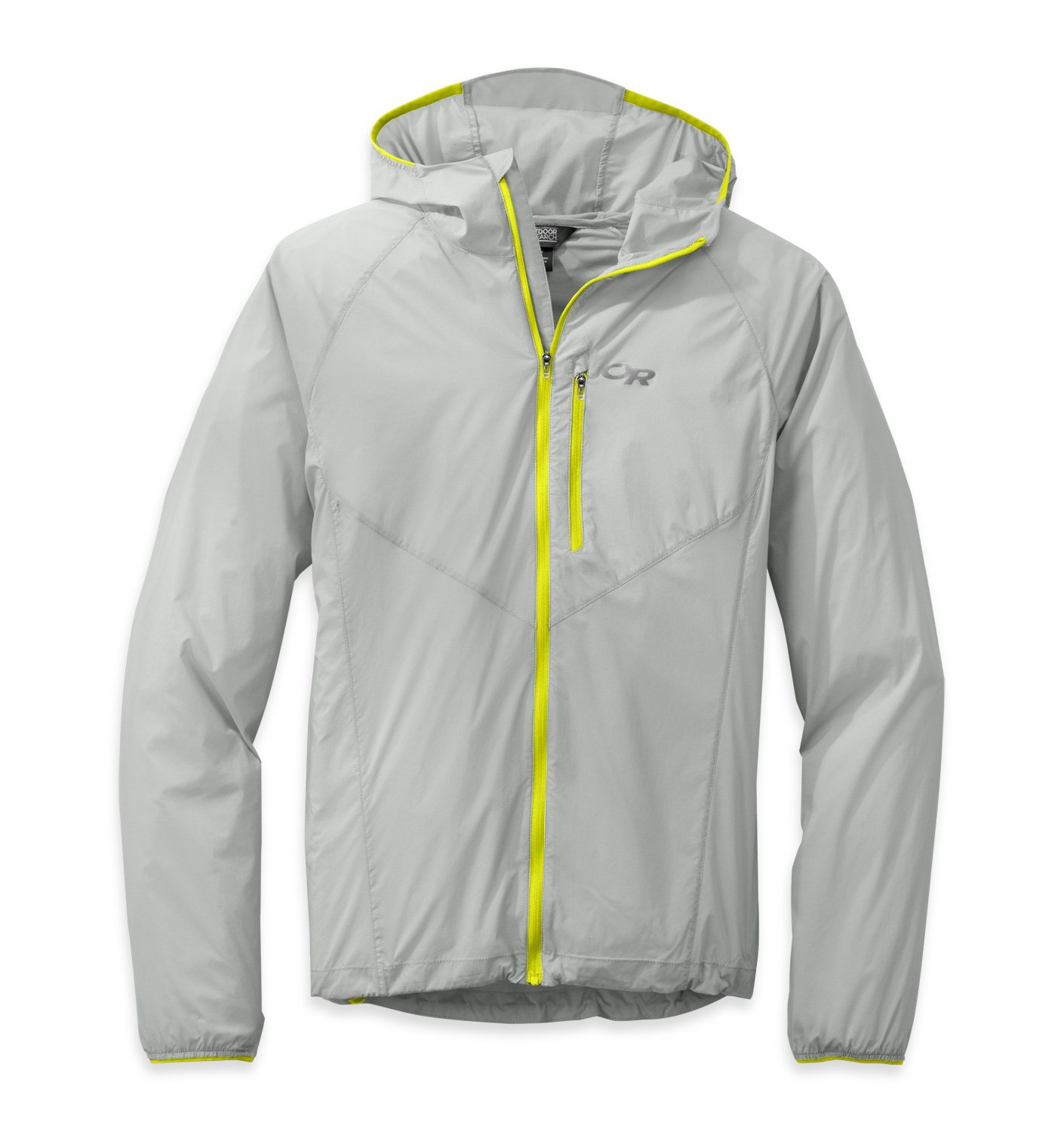 Outdoor Research Men's Tantrum Hooded Jacket, Alloy/Jolt, L by Outdoor Research