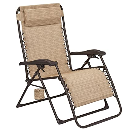 Exceptionnel Hampton Bay Mix And Match Oversized Zero Gravity Sling Outdoor Chaise Lounge  Chair In Cafe