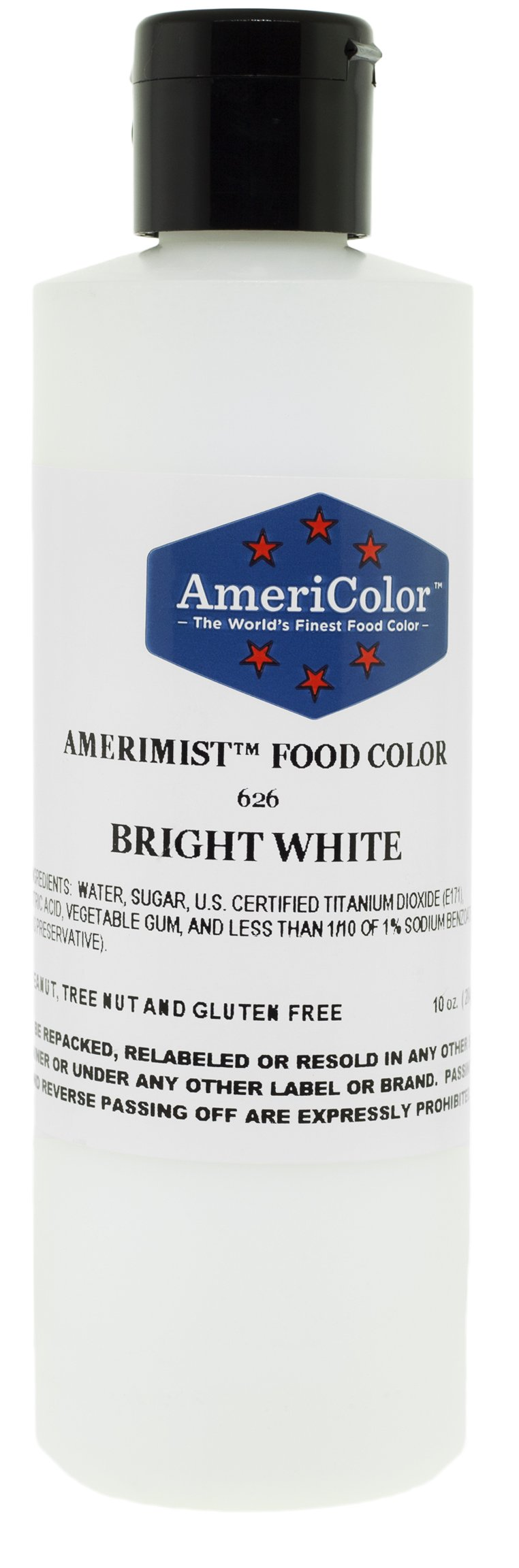 AmeriColor Food Coloring AmeriMist Bright White Airbrush Food Color, 10 Ounce