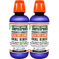 TheraBreath Healthy Gums Periodontist Formulated 24-Hour Oral Rinse with CPC, Clean Mint, 16 Ounce (Pack of 2)