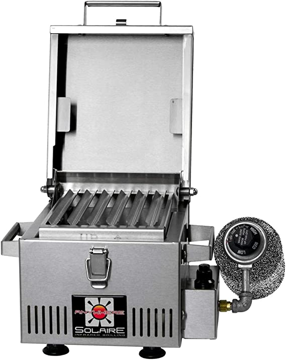 Solaire SOL-IR8A Anywhere Mini Personal Infrared Propane Gas Grill