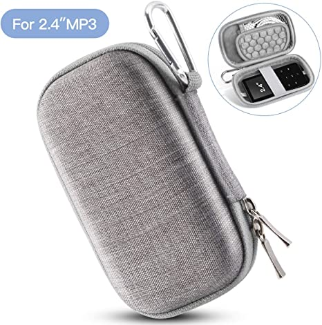Blue AGPTEK Small and Compact Protective Storage Case for Mp3 Players /& Earphones