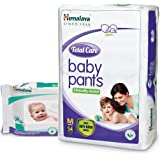 Himalaya Total Care Baby Pants (Medium 54 Count) with Wipes (72 Count)