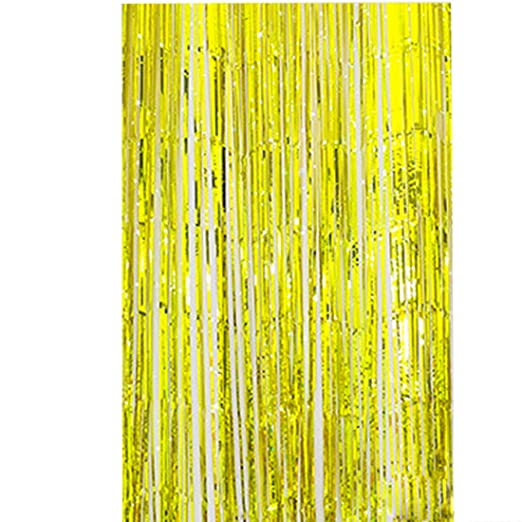 Souarts de Color dorado lluvia cortina flores fiesta de ...