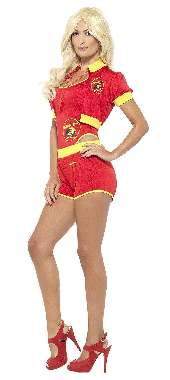 Smiffys Original Baywatch Rettungsschwimmer Kostüm mit kurzer Hose