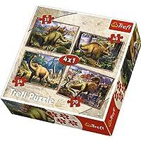 Trefl Çocuk Puzzle Dinosaurs 35+48+54+70 Parça 4 in 1 Puzzle