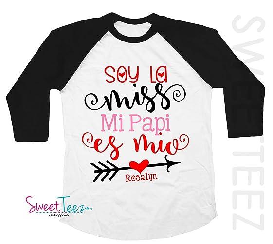 Amazon valentines shirt valentines day gift for girl valentines shirt valentines day gift for girl spanish shirt hearts soy la miss mi papi es negle Images