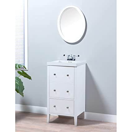 MAYKKE Addison 19 Inch Bathroom Vanity Set in Birch Wood White ... on white vanity and bench set, white bathroom stools, white bathroom tables, white bathroom scales, white bathroom armoires, white antique bathroom vanity, bathroom cabinet sets, white bathroom art, white single bathroom vanity, white bathroom ideas, white bathroom vanities, white wood vanity set, white floating bathroom vanity, bathroom vanities and mirrors sets, white bathroom vanity lights, white bathroom vanity with top, white vanity for bathroom, white bathroom accessory sets, white cottage bathroom vanity, white wood bathroom vanity,