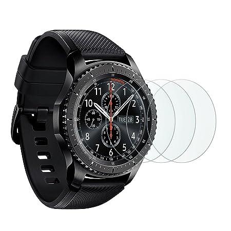 OMOTON Protector Pantalla para Samsung Galaxy Watch 46 mm/ Gear S3 Frontier/Classic, Cristal Templado 9H con 2.5D Samsung Gear S3/ Watch 46mm, ...