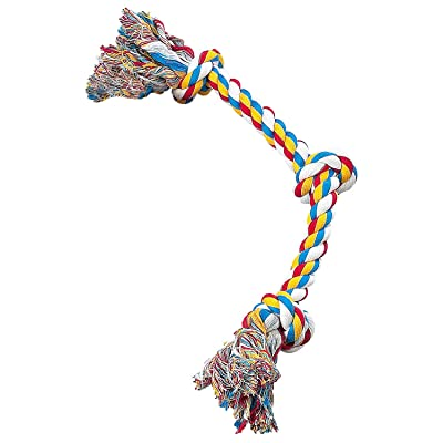 Zanies Cotton Knotted Rope Bone Dog Toy