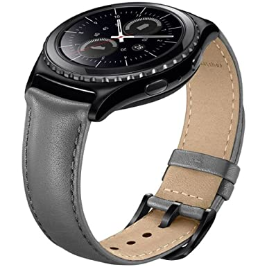 Sundaree Correas Galaxy Watch 42mm/Gear Sport/Gear S2 Classic,20mm Cuero Reemplazo Banda Pulseras de Repuesto Correa para Samsung Galaxy Watch 42mm ...