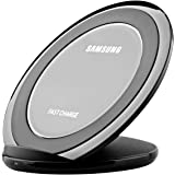 Samsung Fast Charge Wireless Charging Stand for QI Enabled Devices, With / AFC Wall Charger- Black (Renewed)