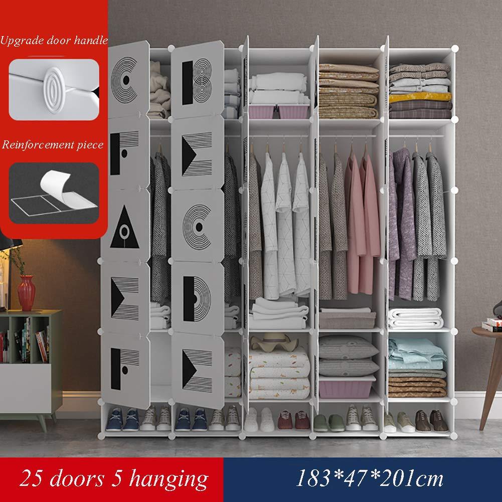 Einfache Garderobe Wandschrank DIY Mode Einfache Schlafsaal Verstärkung Extra Große Montage Garderobe Mit Schuhgitter,25doors
