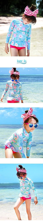 BAY-B Girls Long Sleeve Rashguard Set UPF50+