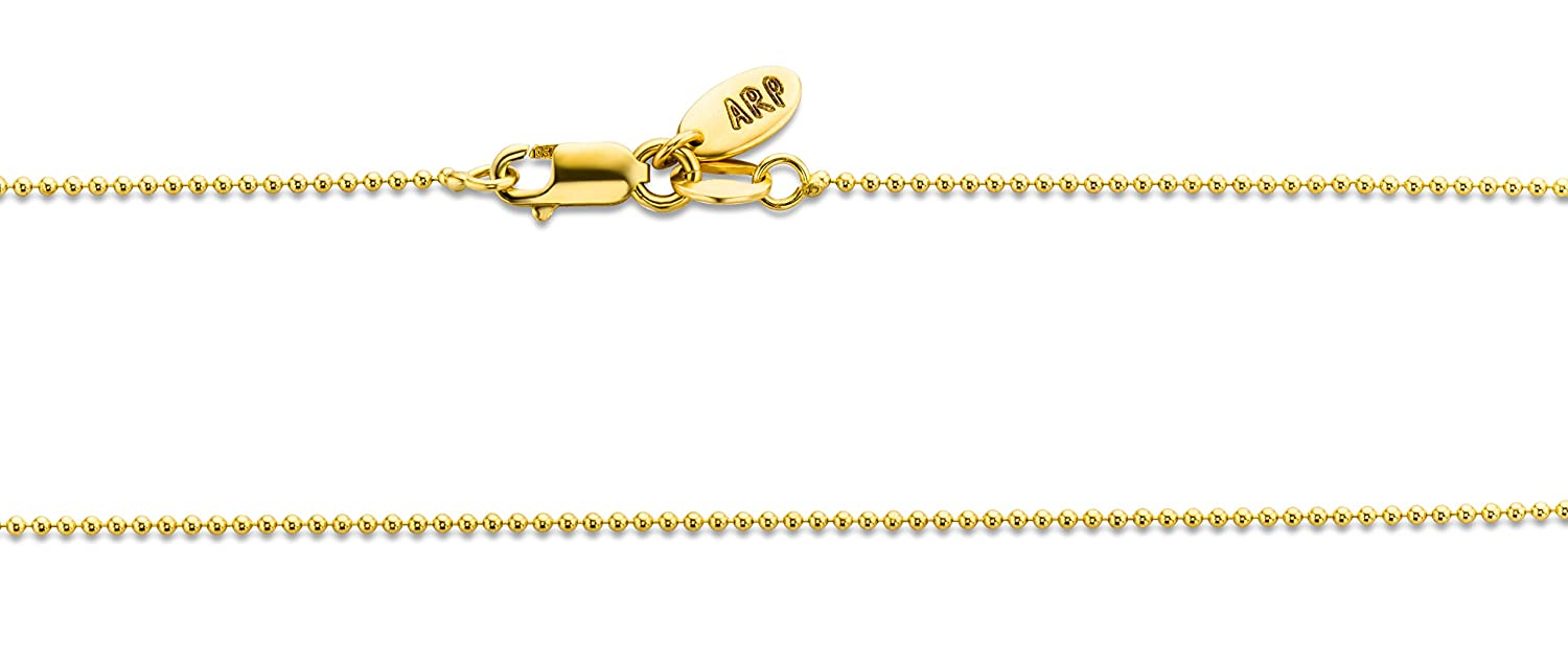 Miore 18ct Yellow Gold Ladies Belcher Chain Diamond Cut 1.8mm of 45cm