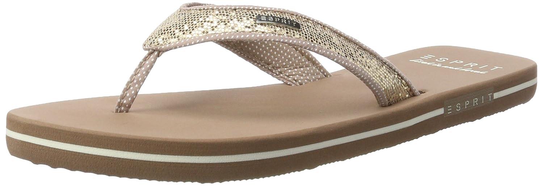 ESPRIT Damen Glitter Thongs Pantoletten, Beige (Cream Beige), 37 EU