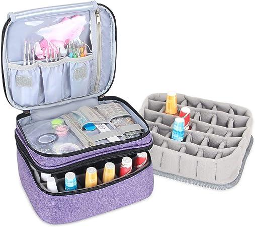 Luxja organizador de esmaltes de uñas, esmaltes de uñas estuche, porta esmaltes de uñas- Sostiene 30