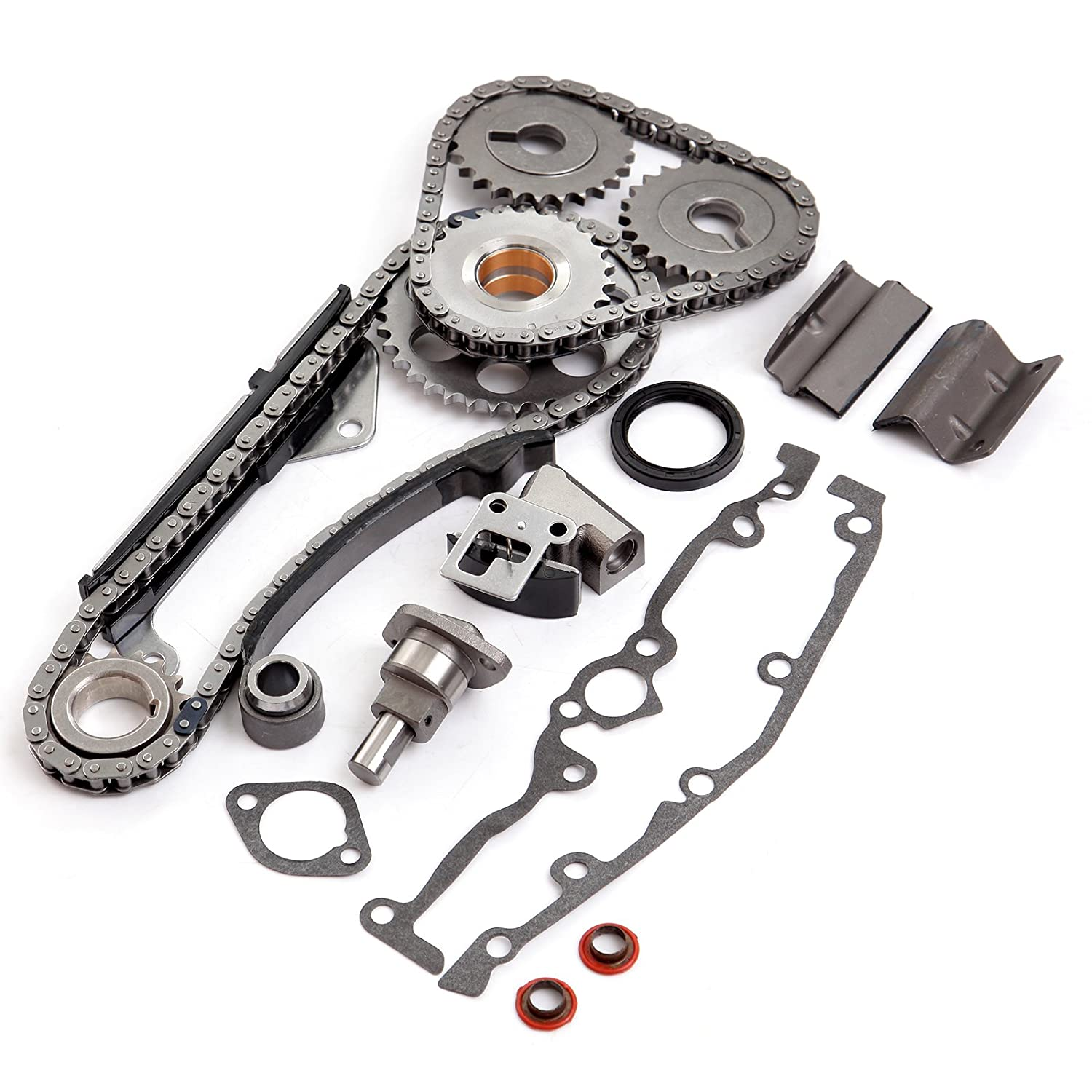 SCITOO Timing Chain Kit fit 1991-1999 1997 1998 Nissan 200SX NX Sentra 1.6L DOHC GA16DE Engine 16 Valve 052078-5206-1755251