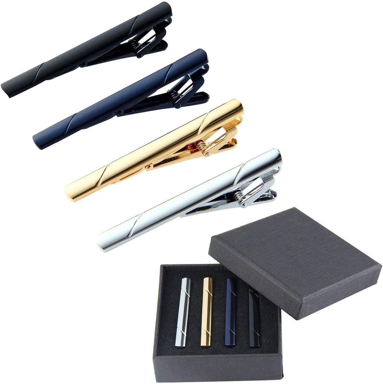 KOBWA 5 clips para corbata de hombre, con clip para corbata, para ...