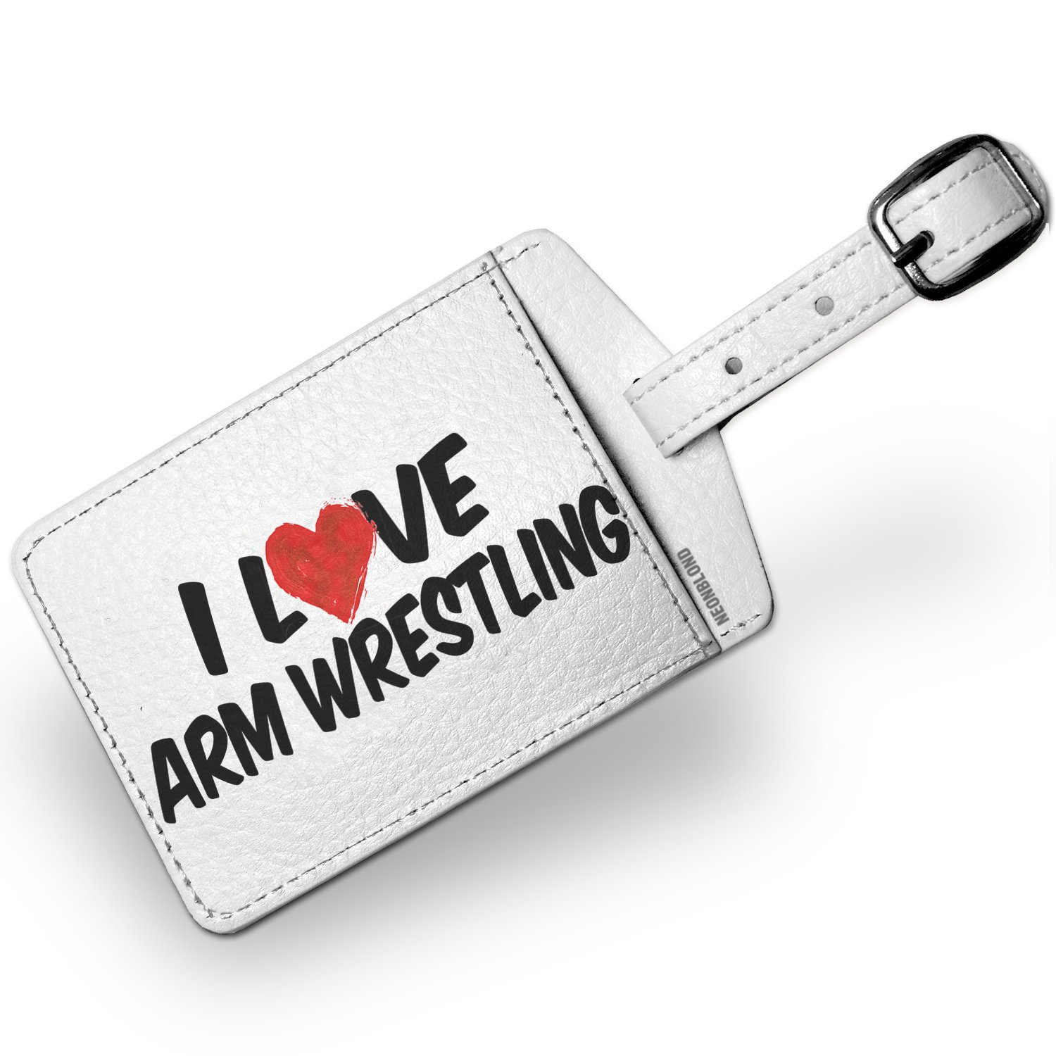 Luggage Tag I Love Arm Wrestling - NEONBLOND