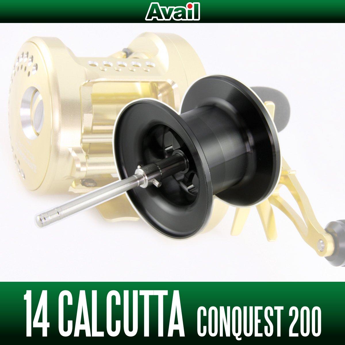 【Avail/アベイル】 シマノ 14カルカッタコンクエスト200用 NEWマイクロキャストスプール 14CNQ2060R ブラック   B00YAH4OHE