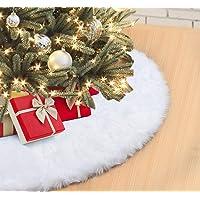 Falda de Árbol de Navidad 122cm Blanco Suave
