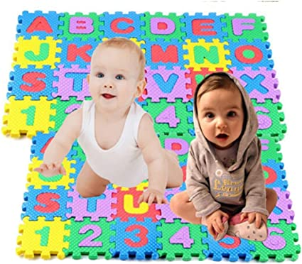 36 pcs Baby  Alphanumeric Educational Puzzle Blocks Infant Child Toy Gift MT