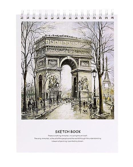 Libro Di Disegni Artistici Di 50 Fogli Di Bricolage Amazon It Casa