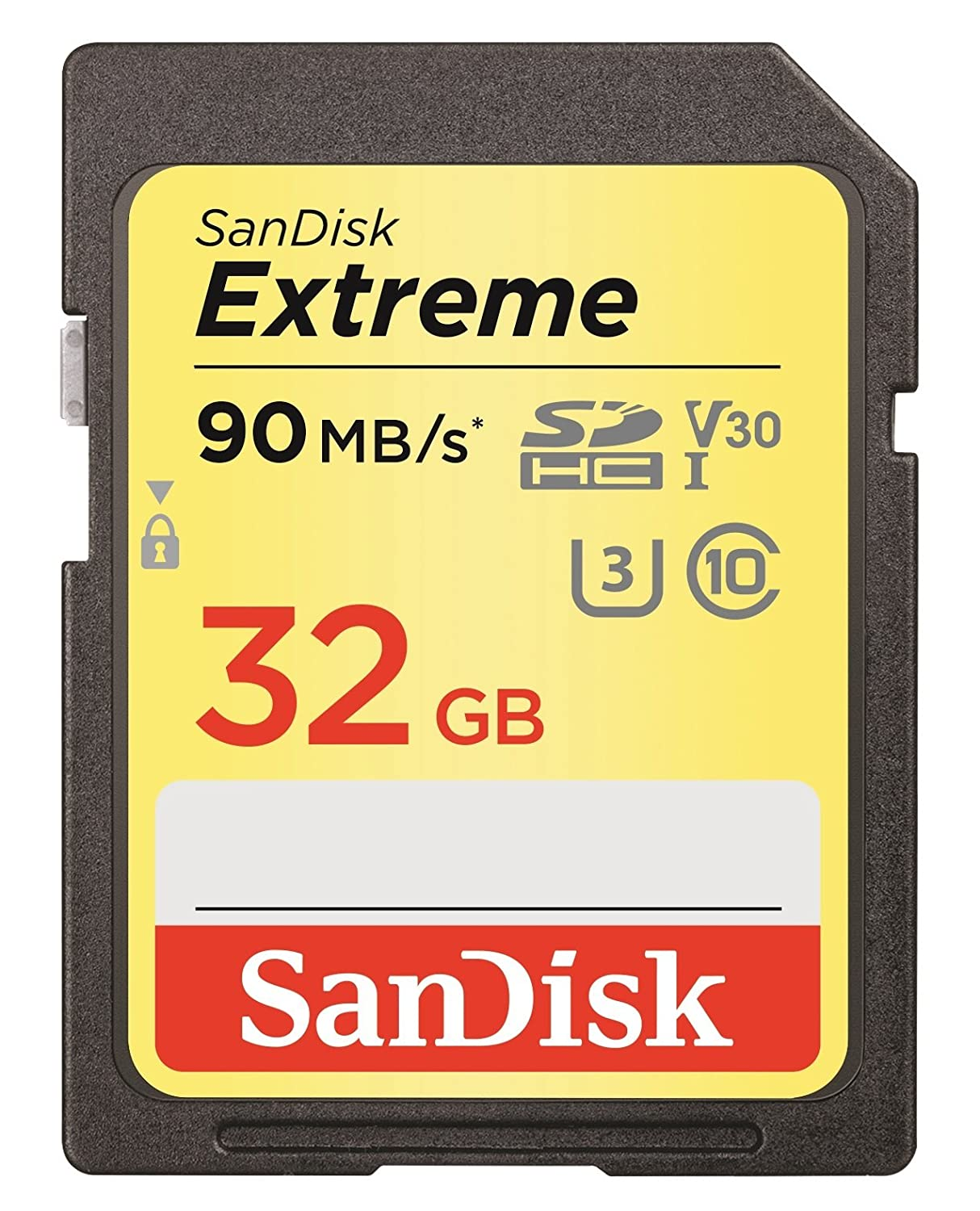 SanDisk Extreme 32GB 90 Mb/s SDHC UHS-I Card (SDSDXVE-032G-GNCIN) [Newest Version]