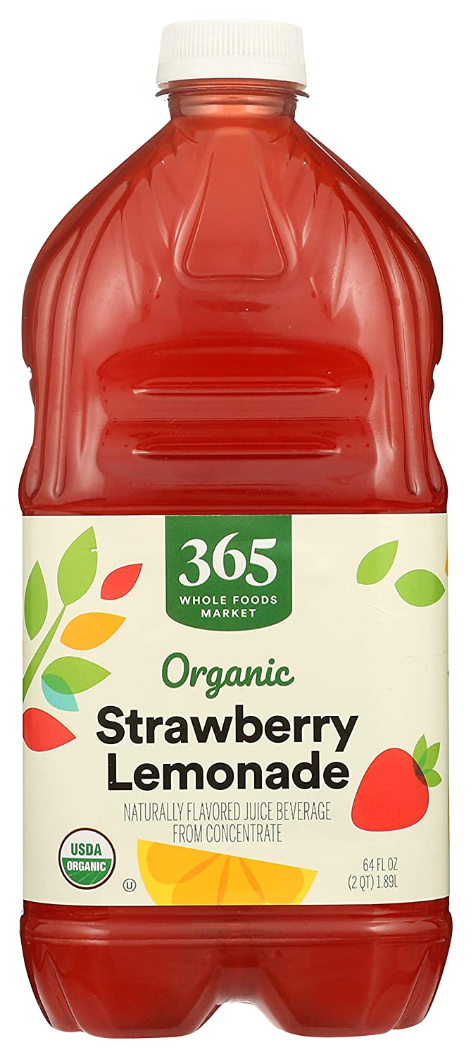 365 Everyday Value, Organic Naturally Flavored Juice Beverage from Concentrate, Strawberry Lemonade, 64 fl oz