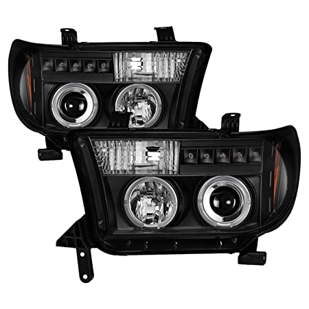 Spyder Auto 5012029 LED Halo Projector Headlights Black/Clear