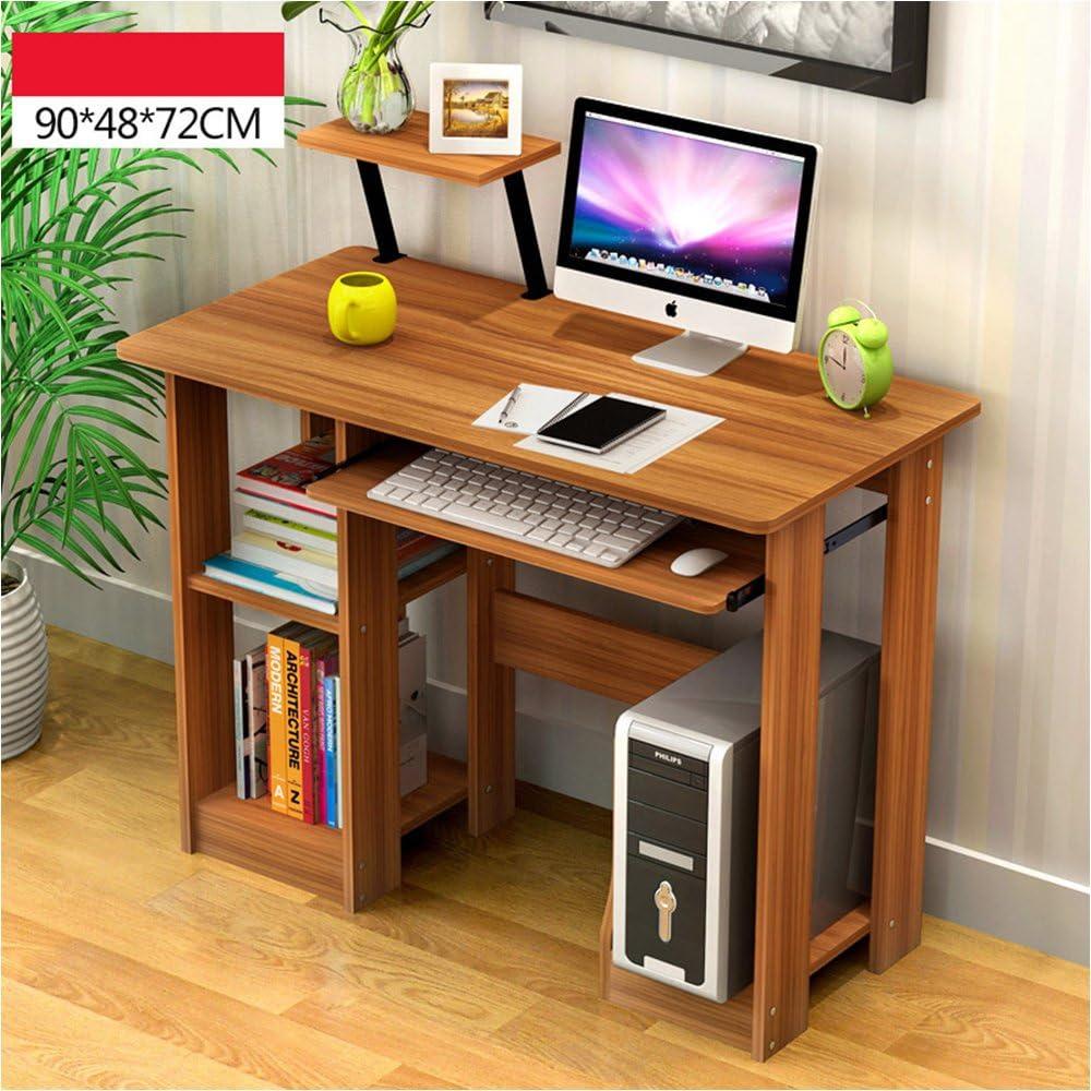 コンピュータデスクノートパソコンテーブルデスクコーナーワークステーションホームオフィスとキーボードトレイと引き出し家具 木製