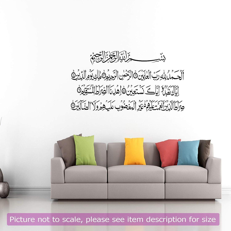 Surah AL Fatiha Quran Ayat Islamic Wall Sticker Islamic Wall decor Home decor Islamic vinyl wall stickers