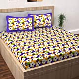 Story at Home Pearl Jaipuri Traditional Collection 120 TC Cotton 1 Double Bedsheet and 2 Pillow Cover - Floral, Multicolor