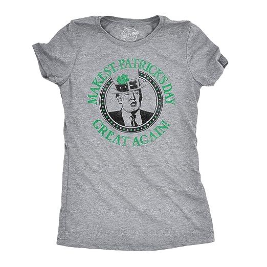 0cf3a7cd9 Womens Make St. Patrick's Day Great Again Funny Trump Irish Hat Vintage T  Shirt (