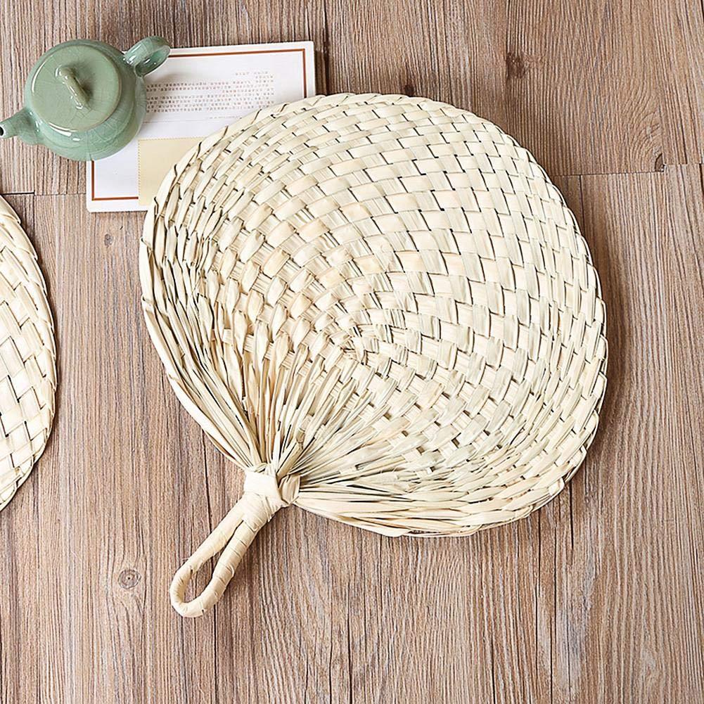 SAWEY Ventilateur de Feuille de Palmier Fait Main de Style Chinois Protection de lenvironnement