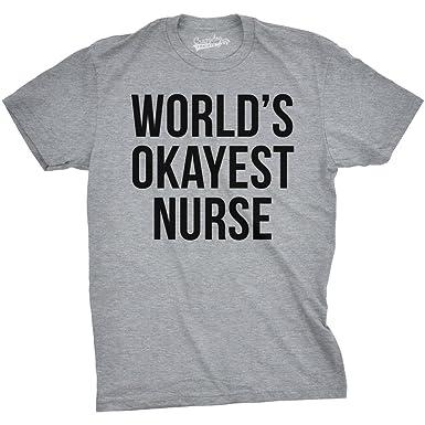 e7441b50 Crazy Dog Tshirts Mens Worlds Okayest Nurse Tshirt Funny Sarcastic Doctor  Tee for Guys: Amazon.co.uk: Clothing
