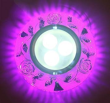 Luz de techo de cristal LED Luz de techo de sala de estar incrustado Color de