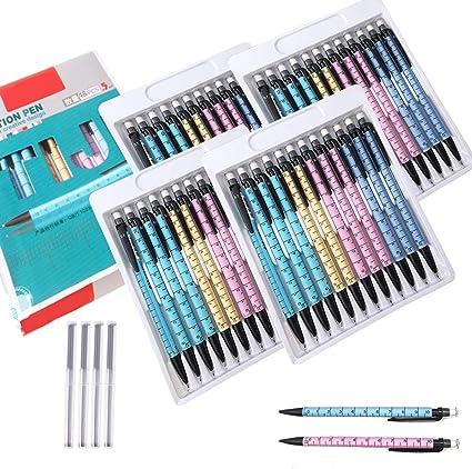 Portaminas Lápiz de 0.7 mm 48 piezas, y 4 tubos Recargas de Plomo Lápiz Automático Oficina y Papelería Escolar para Dibujo Escritura Bosquejo: Amazon.es: Oficina y papelería