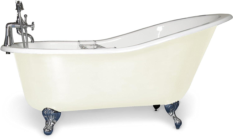 Hierro fundido bañera con patas