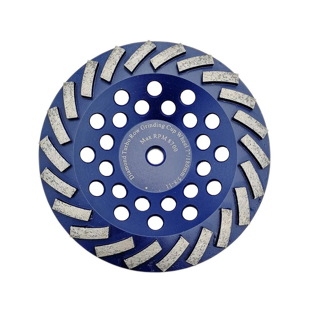 DT-DIATOOL 7 Inch Concrete Grinding Wheel Granite Marble with Turbo Row Diamond Segment