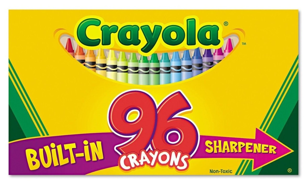 amazon com crayola crayons with built in sharpener 96 count pack