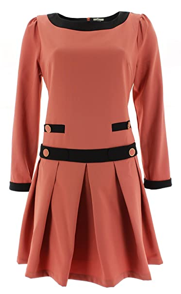 KLING - Vestido - Plisado - para Mujer Naranja Small