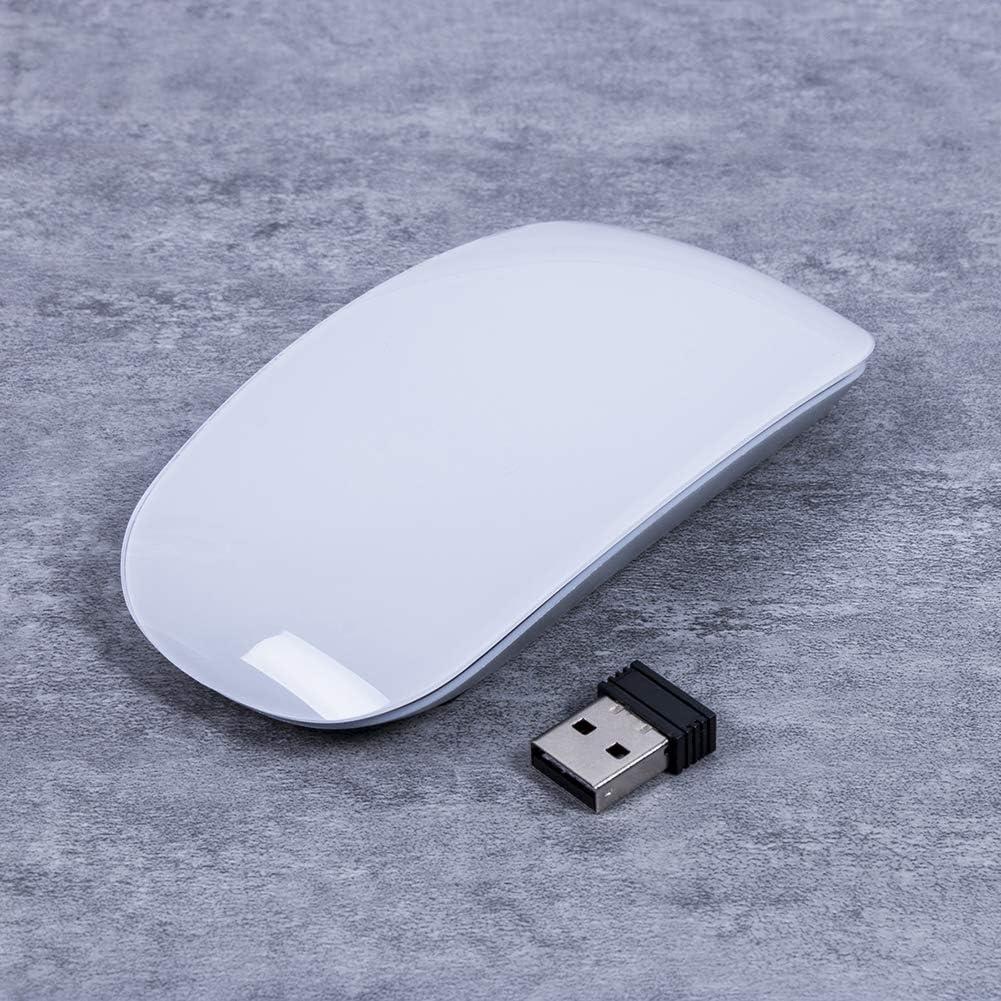 White 2.4GHz Wireless Mouse USB Ergonomic Cordless Mouse 1600DPI for Windows Mac Laptop
