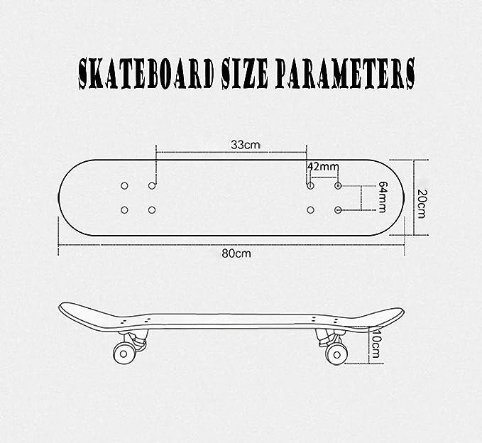Ragazzi khrodis Skateboard Ragazzo,Skateboard Legno Ragazza,Una variet/à di Stili,Adatto per Adolescenti Adulti Ragazze