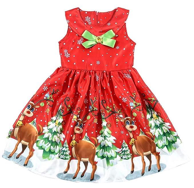 Amazon.com: EGELEXY - Vestido de Navidad sin mangas para ...