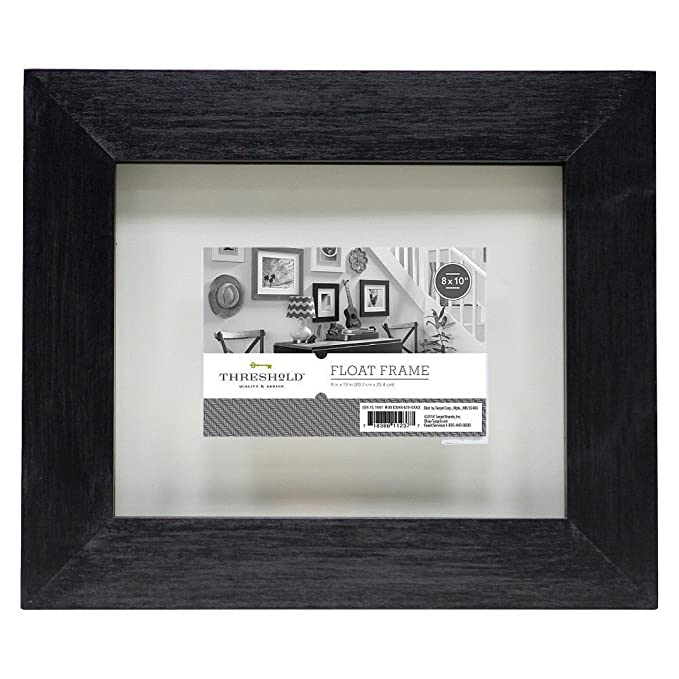 Amazon.com - Threshold Flat Gallery Float Picture Frame - Black 8x10 -