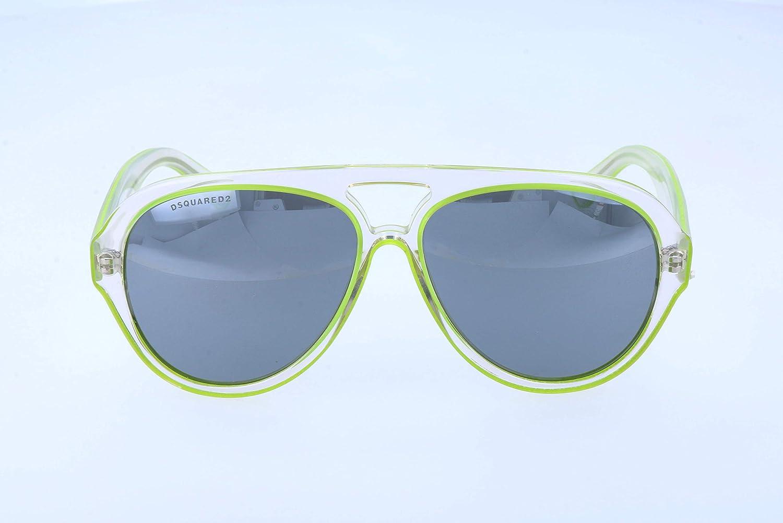 Amazon.com: Dsquared dq0182/S 26 C Crystal/Verde lima Tear ...