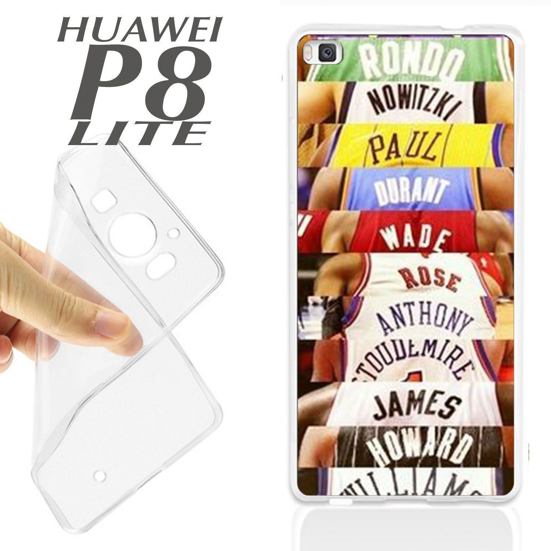 J429 HUAWEI P8 LITE GEL CARCASA FUNDA TPU ESTRELLAS NBA BALONCESTO ...